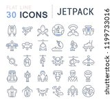 set of vector line icons of... | Shutterstock .eps vector #1199733016