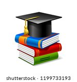 sheaf of colorful books with... | Shutterstock .eps vector #1199733193