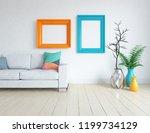 idea of a white scandinavian... | Shutterstock . vector #1199734129
