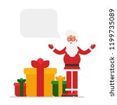 santa claus with open arms... | Shutterstock .eps vector #1199735089