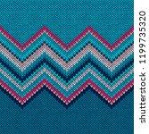 seamless knitted pattern. blue... | Shutterstock .eps vector #1199735320