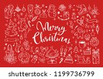 big set of christmas design... | Shutterstock .eps vector #1199736799