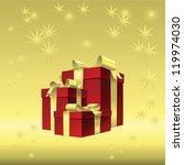 vector christmas gold... | Shutterstock .eps vector #119974030