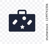 baggage transparent icon.... | Shutterstock .eps vector #1199741506