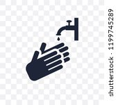 hand wash transparent icon....   Shutterstock .eps vector #1199745289