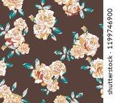 vector flowers pattern ... | Shutterstock .eps vector #1199746900
