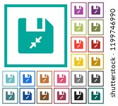 compress file flat color icons... | Shutterstock .eps vector #1199746990