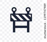 barrier transparent icon.... | Shutterstock .eps vector #1199747989