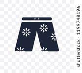 swim shorts transparent icon.... | Shutterstock .eps vector #1199748196