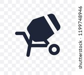 cement mixers transparent icon. ... | Shutterstock .eps vector #1199748946