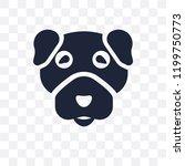 boston terrier dog transparent... | Shutterstock .eps vector #1199750773