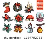 christmas and happy new year...   Shutterstock .eps vector #1199752783