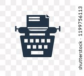 typewriter vector icon isolated ... | Shutterstock .eps vector #1199756113