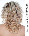 beautiful blond hair  woman | Shutterstock . vector #119975650