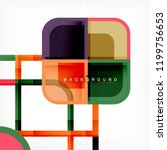 square geometric abstract... | Shutterstock .eps vector #1199756653