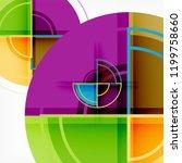 creative circles geometric... | Shutterstock .eps vector #1199758660