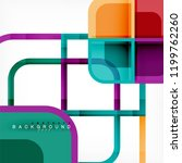 colorful round squares modern... | Shutterstock .eps vector #1199762260