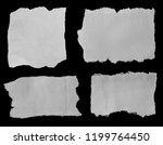 four pieces of torn paper on...   Shutterstock . vector #1199764450