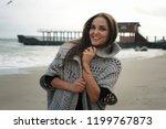 fashion woman portrait against... | Shutterstock . vector #1199767873