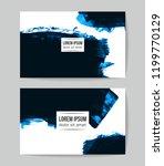 set of vector business card...   Shutterstock .eps vector #1199770129