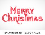 hand drawn merry christmas... | Shutterstock .eps vector #119977126