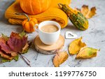 tea cup with coffee hot... | Shutterstock . vector #1199776750