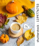 tea cup with coffee hot... | Shutterstock . vector #1199776753