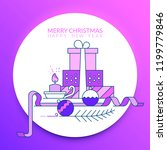 merry christmas and happy new... | Shutterstock .eps vector #1199779846
