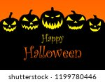 halloween background... | Shutterstock . vector #1199780446