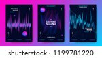music poster for electronic... | Shutterstock .eps vector #1199781220