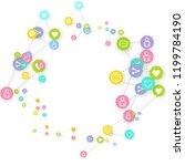 social media marketing ... | Shutterstock .eps vector #1199784190