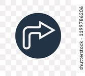 turn right vector icon isolated ... | Shutterstock .eps vector #1199786206