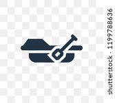 rowing vector icon isolated on... | Shutterstock .eps vector #1199788636