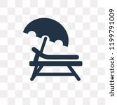 sunbed vector icon isolated on... | Shutterstock .eps vector #1199791009