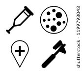 set of 4 simple vector icons...   Shutterstock .eps vector #1199793043