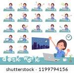 a set of surgical doctor women... | Shutterstock .eps vector #1199794156