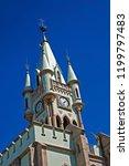 castle tower  fiscal island ... | Shutterstock . vector #1199797483