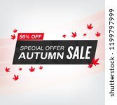 autumn sale banner for business ... | Shutterstock .eps vector #1199797999