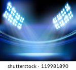 stadium lights. vector... | Shutterstock .eps vector #119981890