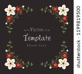 floral greeting card and... | Shutterstock .eps vector #1199819500