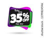 sale 35  off  bubble banner...   Shutterstock .eps vector #1199824546