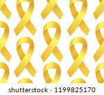 realistic golden ribbon... | Shutterstock .eps vector #1199825170