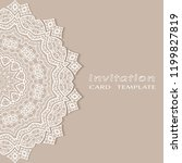 invitation or card template... | Shutterstock .eps vector #1199827819