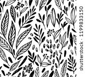 vector seamlee pattern with... | Shutterstock .eps vector #1199833150