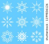 collection of artistic icy... | Shutterstock . vector #1199836126