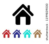 home icon vector  house symbol  ... | Shutterstock .eps vector #1199839030