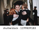 mother. father. son. hugs....   Shutterstock . vector #1199839183