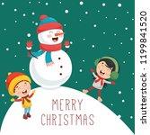 Vector Illustration Of Christmas