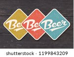 coaster for beer with hand... | Shutterstock .eps vector #1199843209