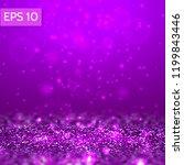 purple glitter lights vector...   Shutterstock .eps vector #1199843446